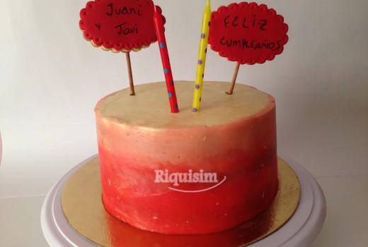 tarta doble cumpleaños