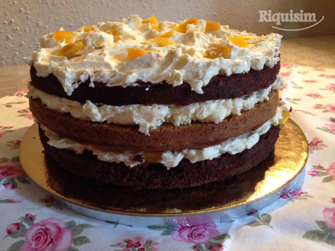 tarta calabaza y choco